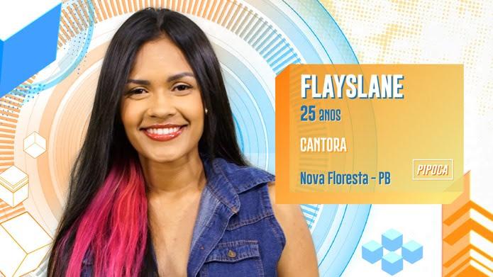 Flayslane é participante do BBB20 — Foto: Globo