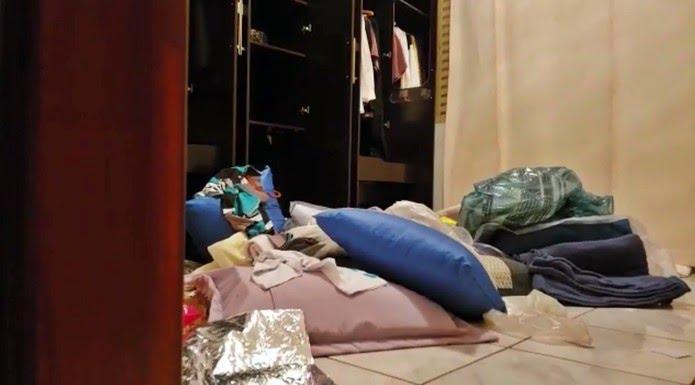 Casa de padre aposentado foi revirada por criminosos durante roubo em Passos (MG). — Foto: Reprodução EPTV