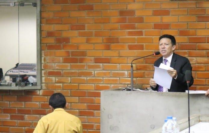 Romualdo Sena, candidato do DC ao governo do estado do Piauí  (Foto: Lucas Marreiros/G1 PI)