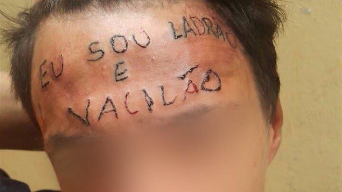 Tatuador é preso por tortura após escrever 'eu sou ladrão e vacilão' na testa de adolescente no ABC