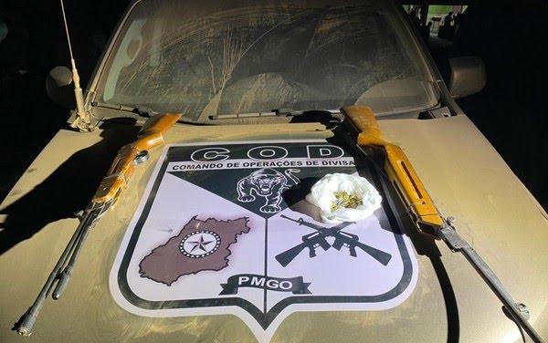 Presos suspeitos de ajudar Lázaro na fuga tinham duas armas de fogo, diz SSP — Foto: Divulgação/SSP-GO
