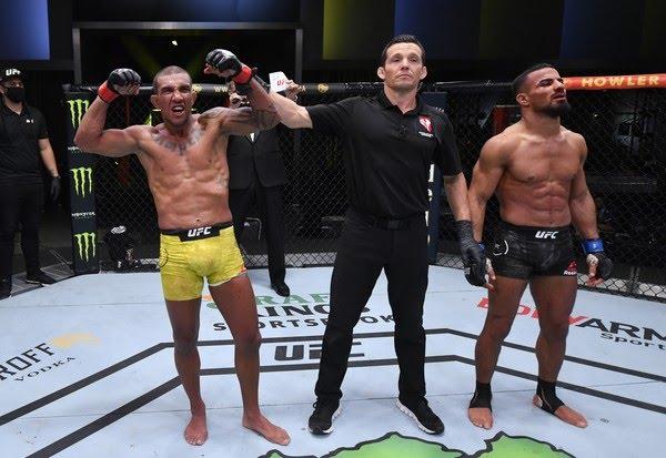 Raoni Barcelos vem de cinco vitórias seguidas no UFC — Foto: Getty Images