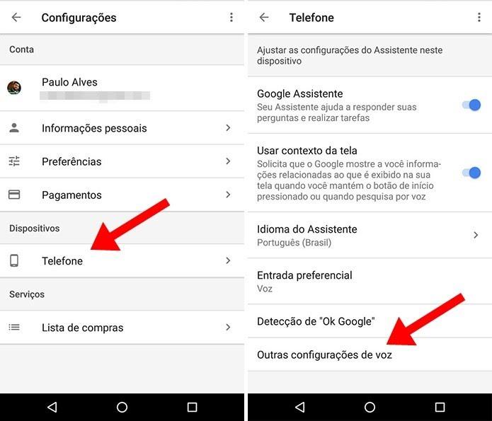 Ajuste as configurações de voz da Google Assistente