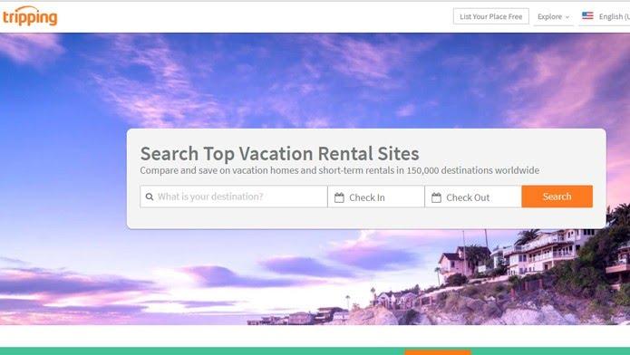 Tripping é um agregador de sites de aluguel de casas (Foto: Reprodução/Clara Barreto)